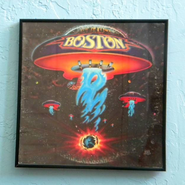 Framed Vintage Record Album Cover Boston