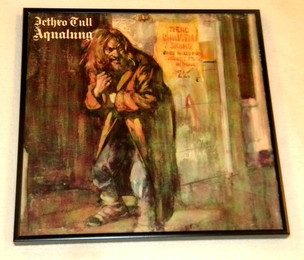 Framed Vintage Record Album Cover -Jethro Tull - Aqualung