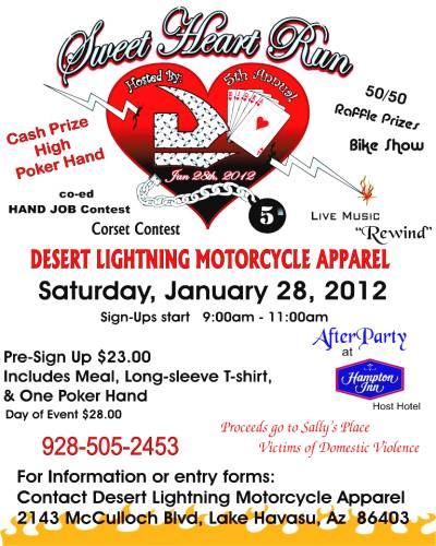 Shop Lake Havasu sweetheart run 2012 poster