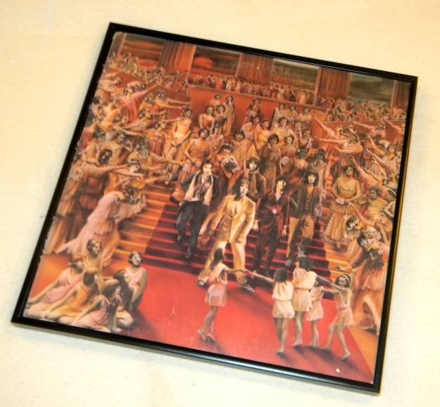 Framed Vintage Record Album Its Only Rock and Roll - Rolling Stones