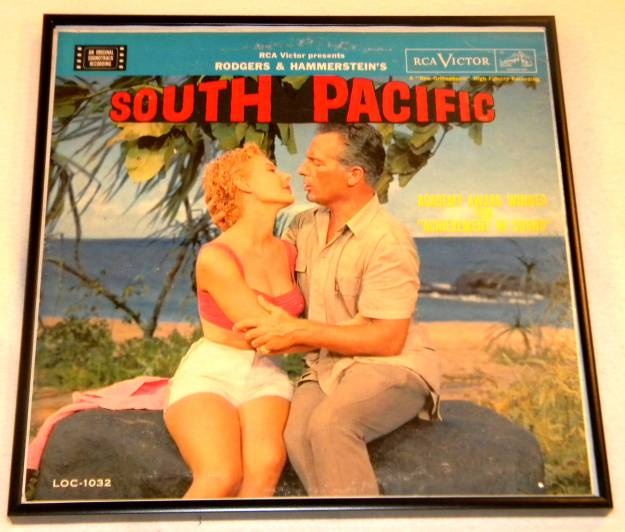 Framed Album Cover - South Pacific the original movie soundtrack
