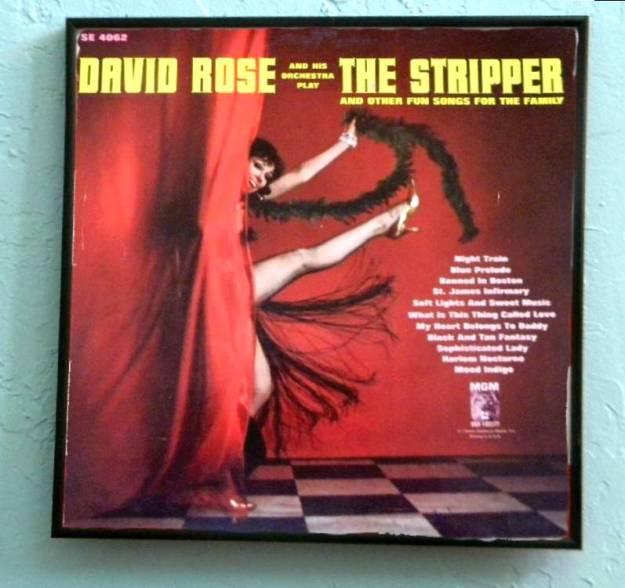 Framed Album Cover The Stripper David Rose
