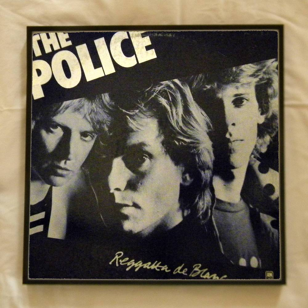 Framed vintage record album cover for sale the police for Framed photos for sale